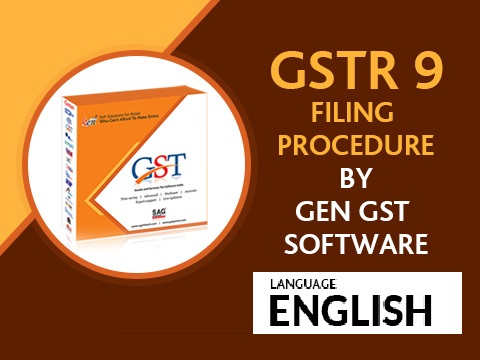 Gen GST GSTR 9 Filing Procedure English