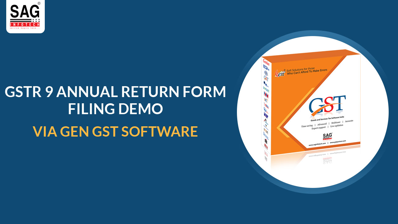 Gen GST GSTR 9 Demo English