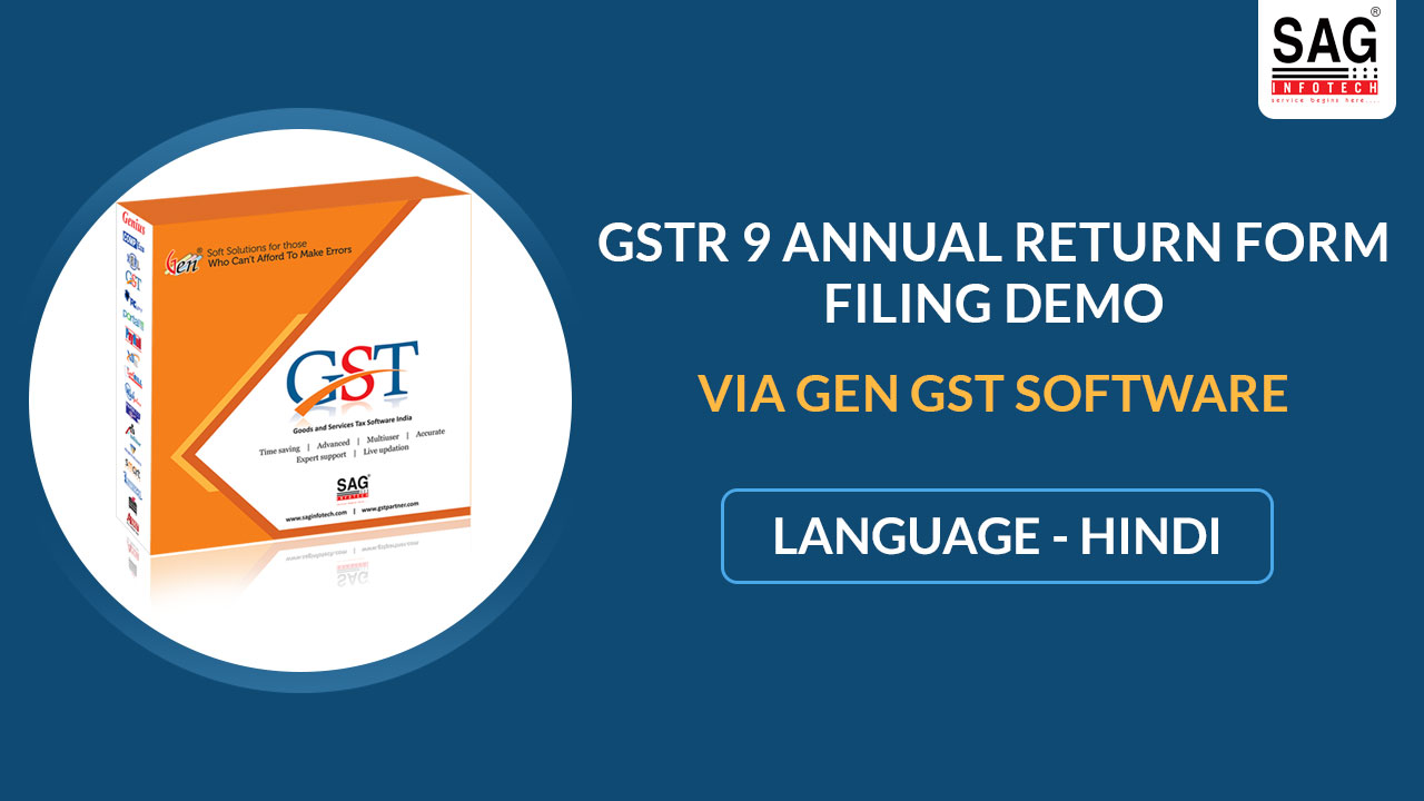 Gen GST GSTR 9 Demo Hindi