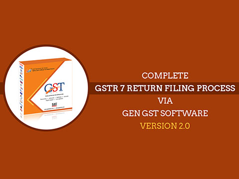 GSTR 7 Via Gen GST Software Video